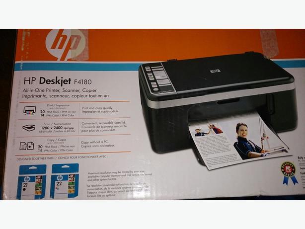 hp deskjet f4180 all in one printer printer scanner. Black Bedroom Furniture Sets. Home Design Ideas