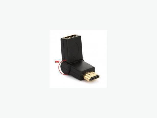 HDMI F/M 180° Rotation Swivel 90° Folding Adapter Port Saver