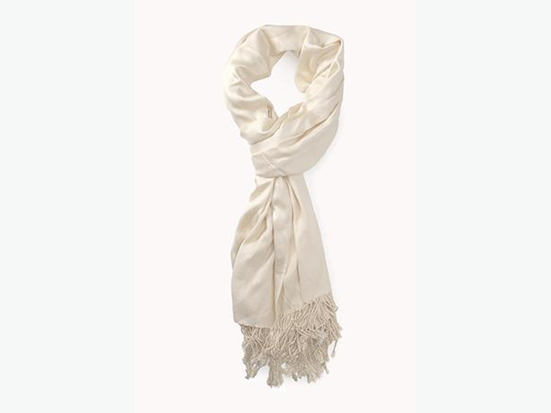Forever 21 Fringed Solid Scarf - Cream