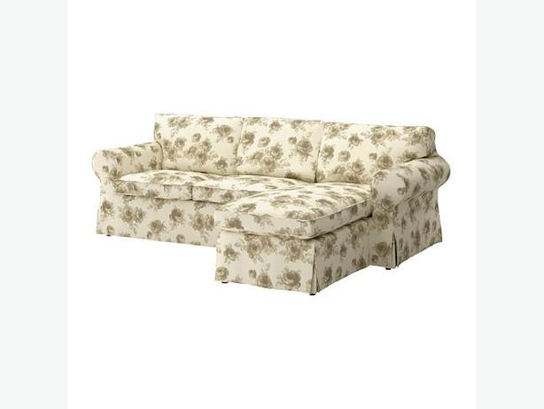 Ikea EKTORP Cover for Loveseat with Chaise - Norlida White/Beige