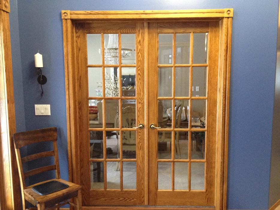 Oak french double doors for sale rural regina regina for Double doors for sale