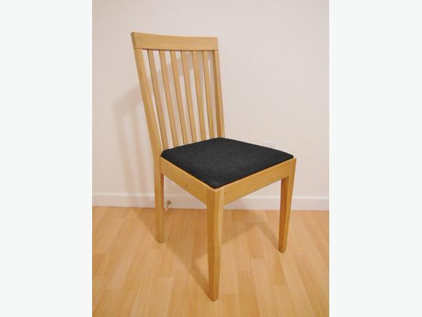 Ikea EGON Chair - Oak / Dark Gray (Set of 2)