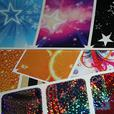 "100 pieces of 1"" x 1"" custom die-cut stickers decals"
