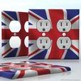 Creative, decorative DIY light switch and receptacle, wall plate decal stickers