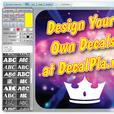 "100 pieces of 1"" x 1"" custom die-cut stickers decals"