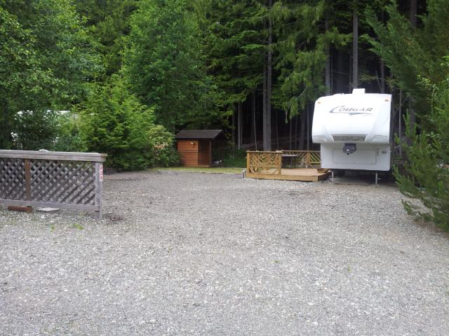 RV Lot At Spider Lake Springs Campers Resort Outside Comox