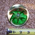 Antique or vintage flower glass paperweight
