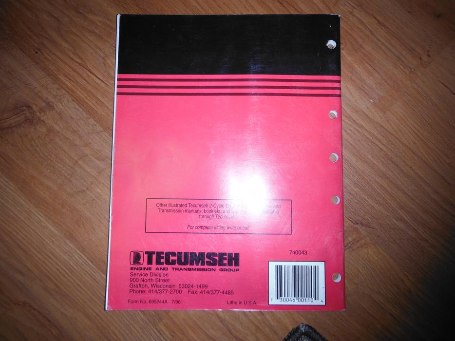 tecumseh 4 cycle engine manual
