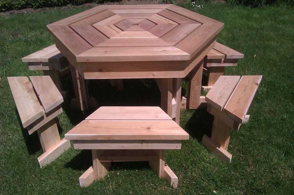 Heavy Duty Cedar Slab Picnic Table North Saanich Amp Sidney