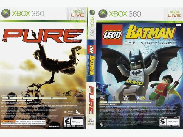 Lego Batman and Pure quad (Xbox 360)
