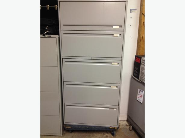 5 Drawer Lateral File Cabinets $275.00 each.