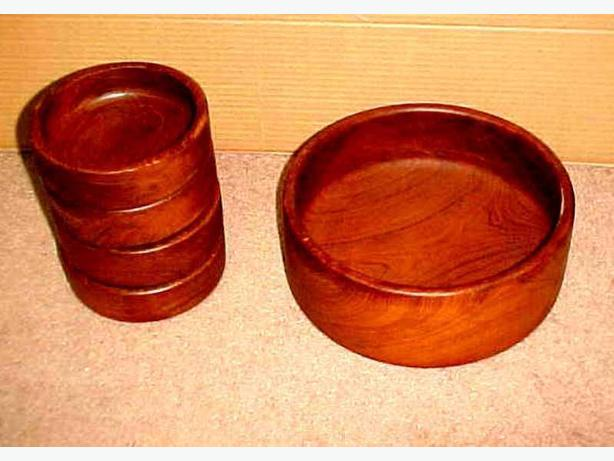 TEAK SALAD BOWL SET