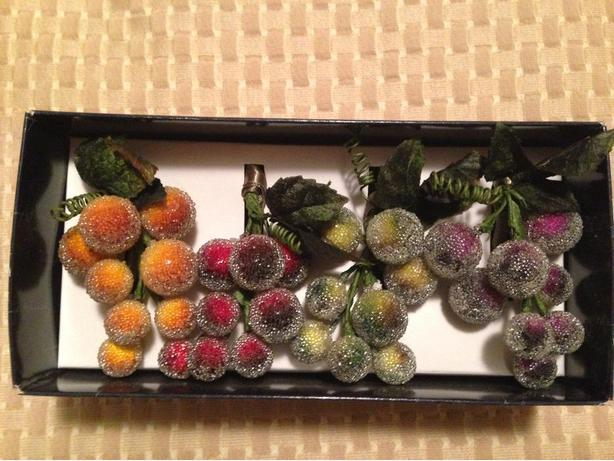 Set of 4 Fruit themed napkin rings