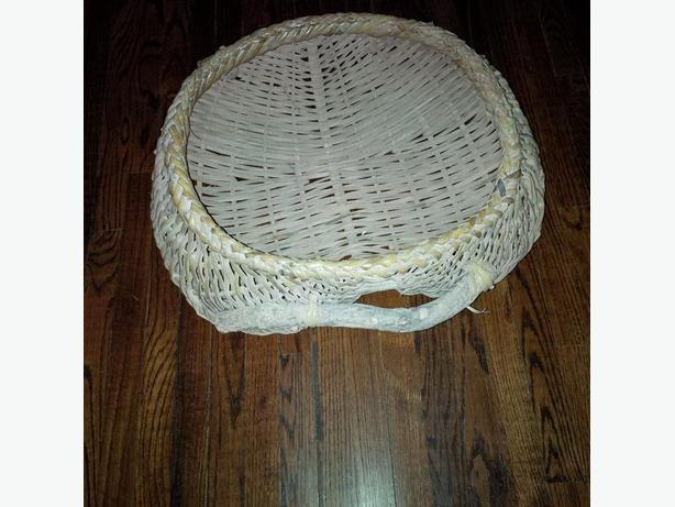 Wicker basket:  Can be used as a mail tray, or for hats and gloves ...
