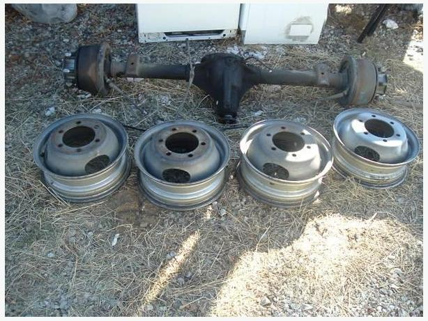 Wanted Nissan or Toyota Dually rearend & rims