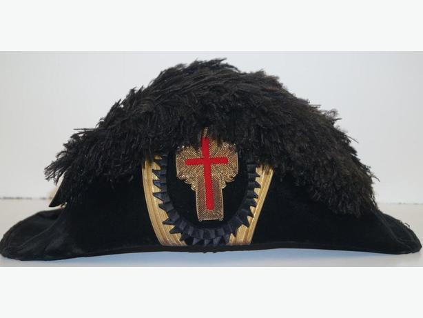 PRICE REDUCED Masonic Knights Templar Ceremonial Chapeau
