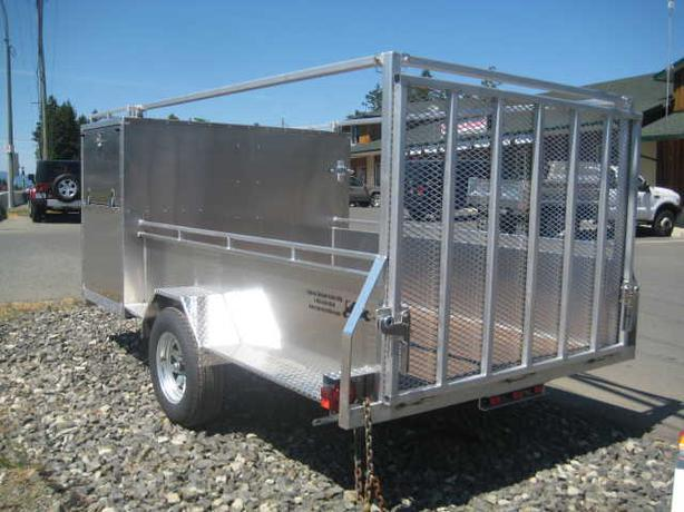 5 X 11 Aluminum Landscaping Utility Trailer Outside