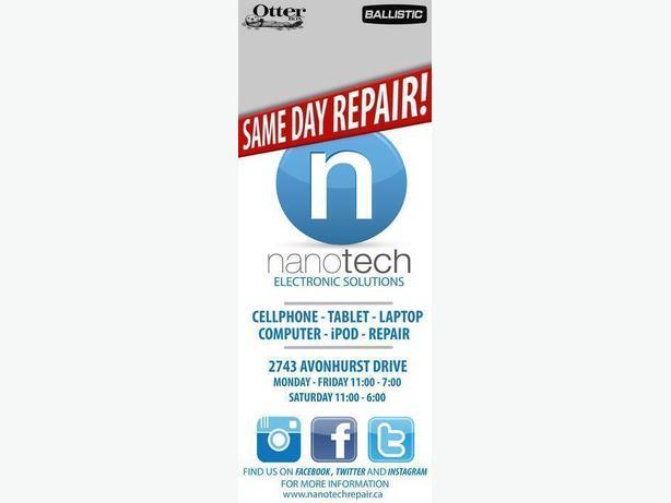 Same Day Electronics Repair at Nanotech