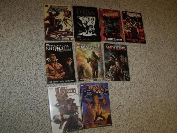 to $10 EACH. GRAPHIC NOVELS and HARDCOVERS