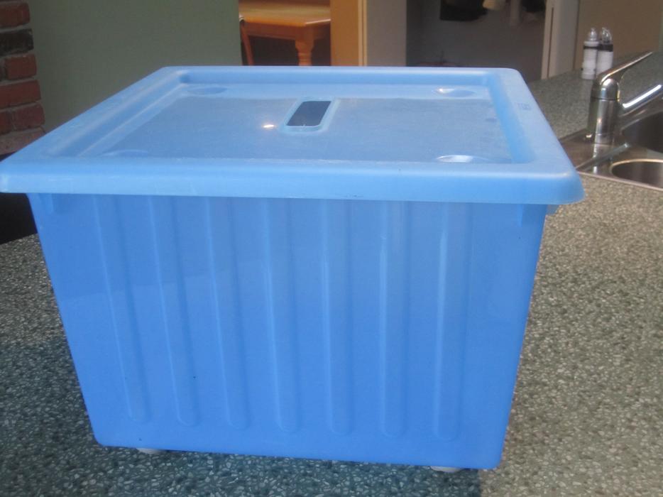 Ikea vessla storage box and lid oak bay victoria for Ikea box diviseurs