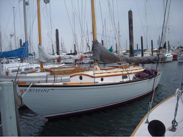 Classic wooden sail boat Ed Monk 1939