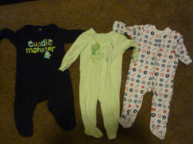 3 Sleepers - Sizes 3-6 & 9 & 6-12 Months