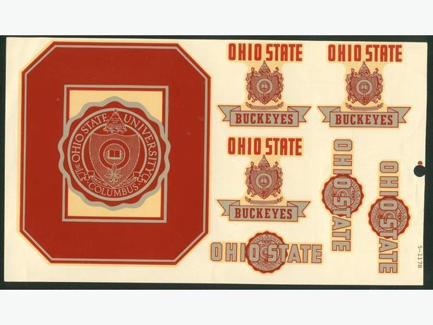 Ohio State University Decals Patch