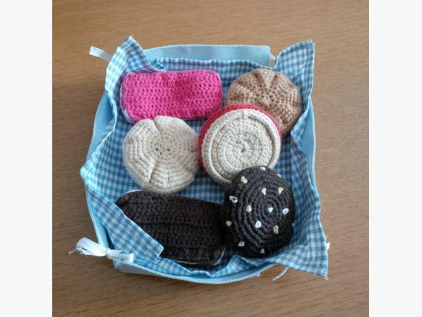 Basket of Crochet Cookies