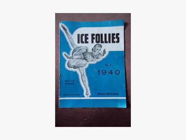 Ice Follies of 1940 program