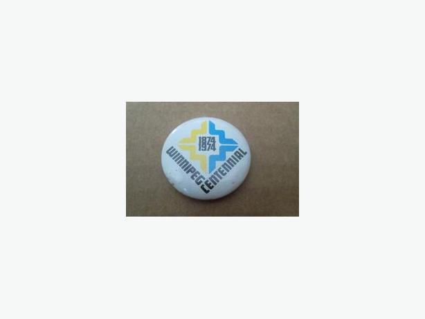 1974 City of Winnipeg Centennial button
