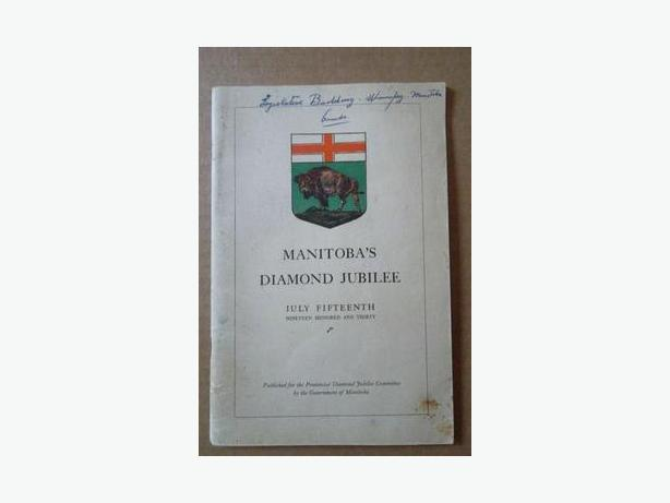 "1930 Province of Manitoba ""Diamond Jubilee"" booklet"