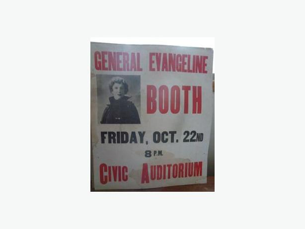 1937 Streetcar Poster - General Evangeline Booth (Salvation Army)