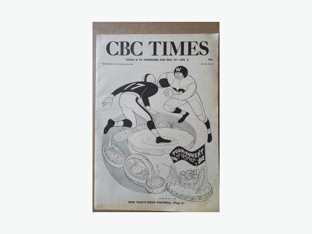"1959/60 ""CBC Times"" TV & Radio Guide"