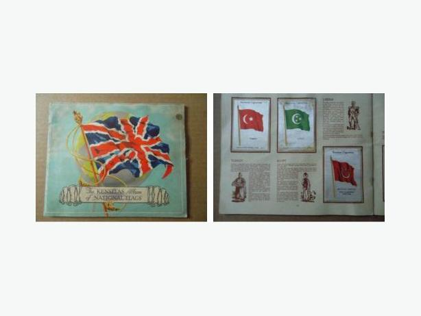 Kensitas Album of Silk Cigarette Cards - Flags