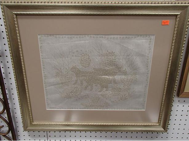 Framed Needle Work