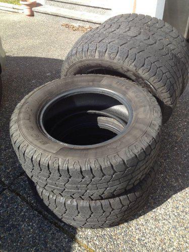 Used Tires Oshawa >> set of Big O Big Foot 275-65-18 A/T tires Load Rage E 40% tread Saanich, Victoria