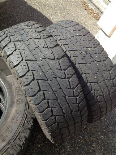 Used Tires Oshawa >> set of Big O Big Foot 275-65-18 A/T tires Load Rage E 40% ...