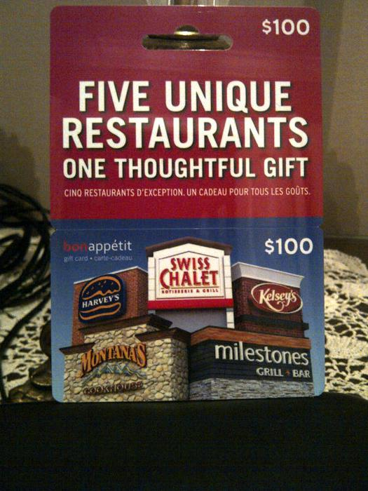 100 five restaurant gift card central ottawa inside. Black Bedroom Furniture Sets. Home Design Ideas
