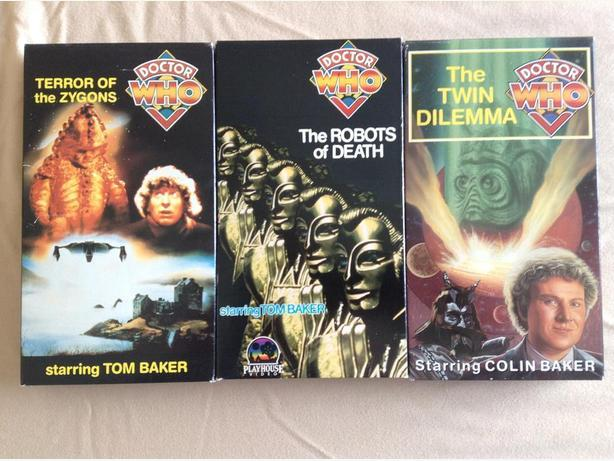 (Dr) Doctor Who (3) Rare Terror of Zygon's, Robots of Death, & Twin Dele