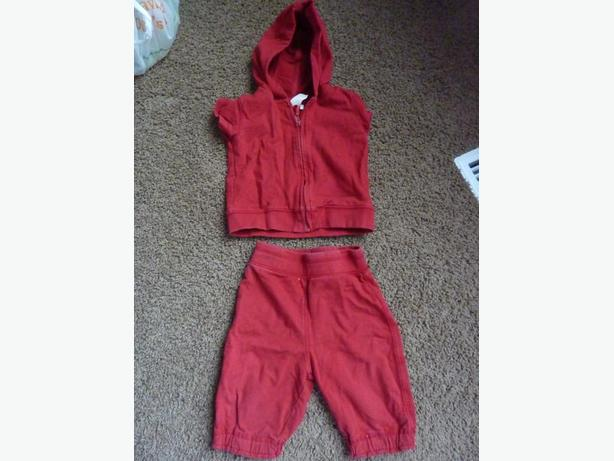 Red Summer Sweatsuit - Size 12 - 18 months