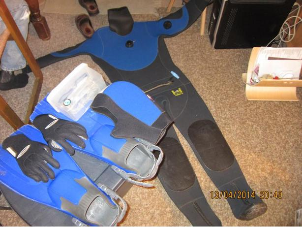 Harvey Dry Suit,  etc