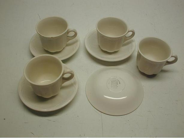 Set of 4 Old Wheat Pattern Cup & Saucers