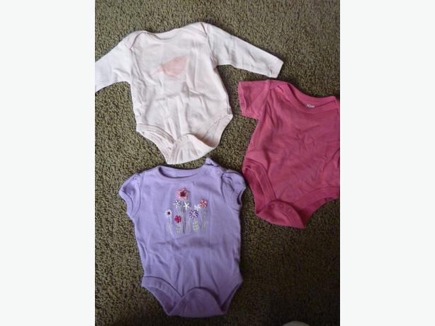 3 Onesies - SIze 0-3 Months