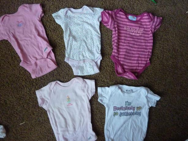 5 Onesies - Size 6-9 Months