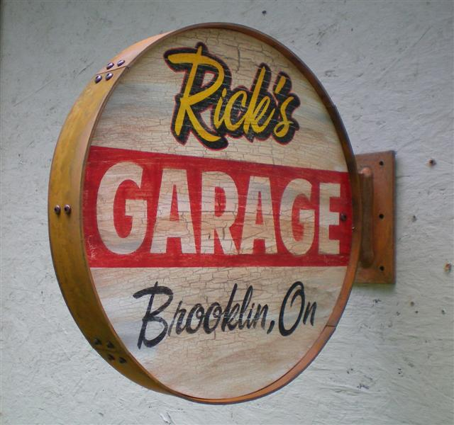 Personalized Garage Signs : Personalized vintage retro style garage signs outside