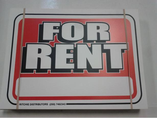 "Pack of 100 ""For Rent"" Signs"