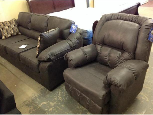 Brand new sofa in grey Laramie fabric..Serta upholstery..taxes in..