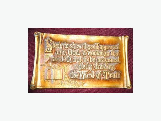 Circa 1928 - A.E. Mitchell Art Co. - Religious Metal Wall Plaque