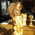 Eaton's Original Art Collection - Gold Angel with Dove Statue
