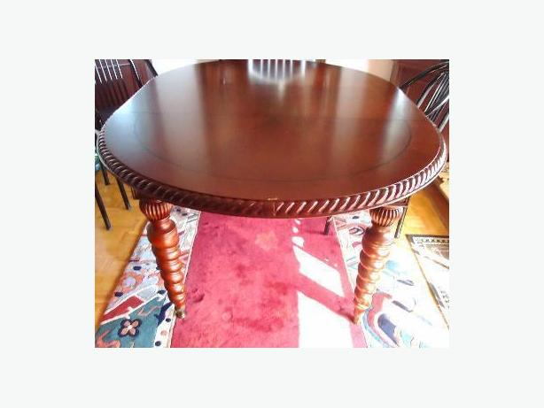Bombay Company Solid Mahogany Wood Oval Dining Table  : 38316954614 from www.usedtoronto.com size 614 x 461 jpeg 28kB